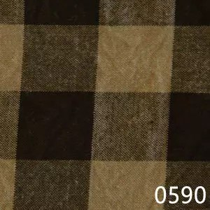 Black Tea Dyed Buffalo Check Plaid Homespun Fabric