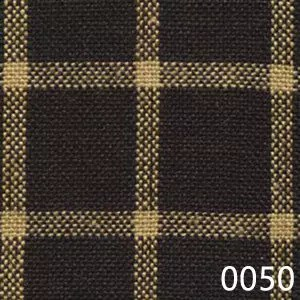 Black Tea Dyed Reverse Windowpane Plaid Homespun Fabric