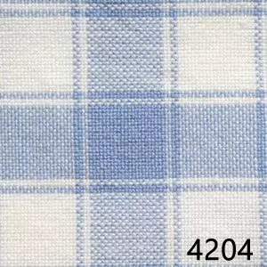 Light Blue White Housecheck Plaid Homespun Fabric