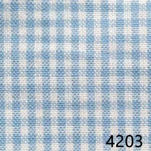 Light-Blue-White-Mini-Check-Plaid-Homespun-Fabric-4203