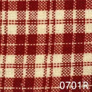 Red Cream Multipane Plaid Homespun Fabric