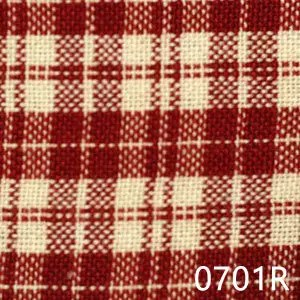 Red Cream Multipane Plaid Homespun Fabric