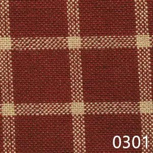Red Tea Dyed Reverse Windowpane Plaid Homespun Fabric