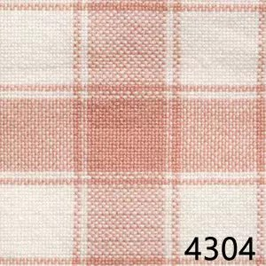 Rose White Housecheck Plaid Homespun Fabric 4304