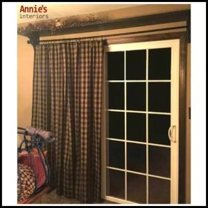 Homespun Pleated Patio Door Curtain 84x84