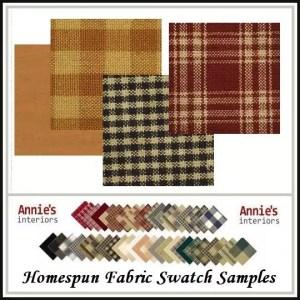 Homespun Fabric Swatch Samples