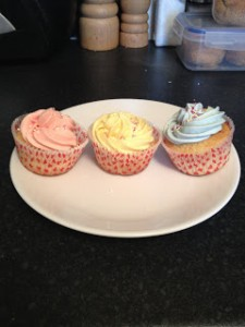 Vanilla Cupcakes with Sprinkles