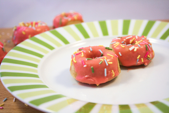 Vanilla Sprinkle Mini Doughnuts