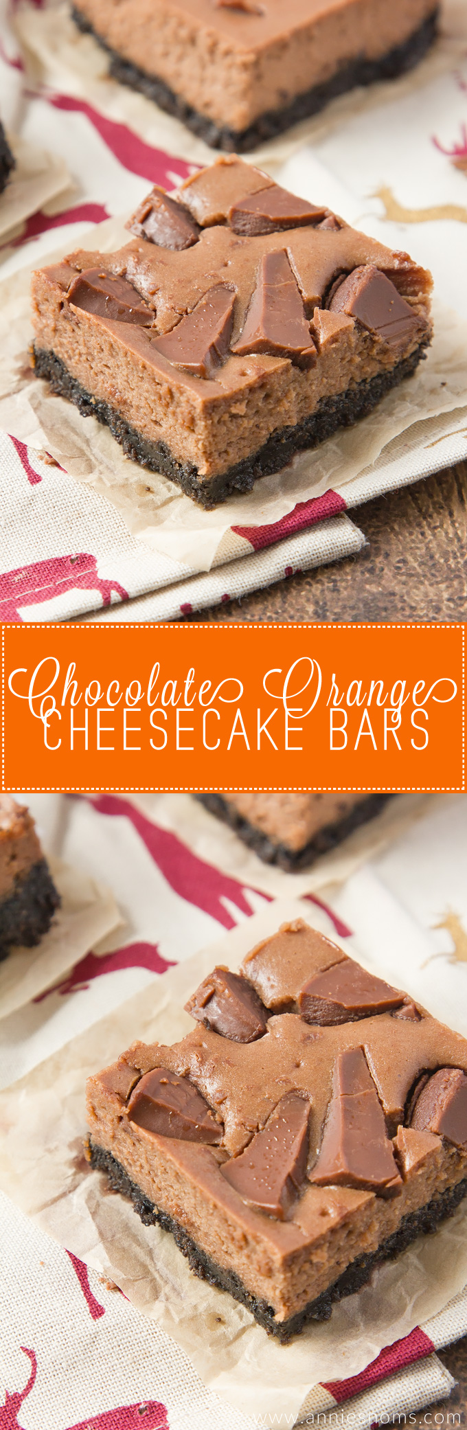 Lusciously smooth chocolate orange cheesecake, with a crunchy Oreo biscuit base. A deliciously simple Christmas bake everyone will love!