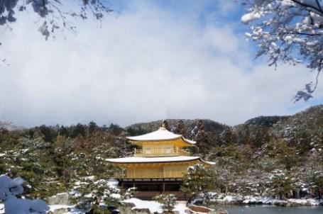 [京都] 雪色京都 幸運遇見的第二次雪金閣