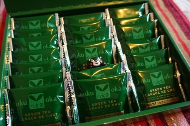 [九州] 福岡土產 八女茶のラングドシャ 抹茶餅乾