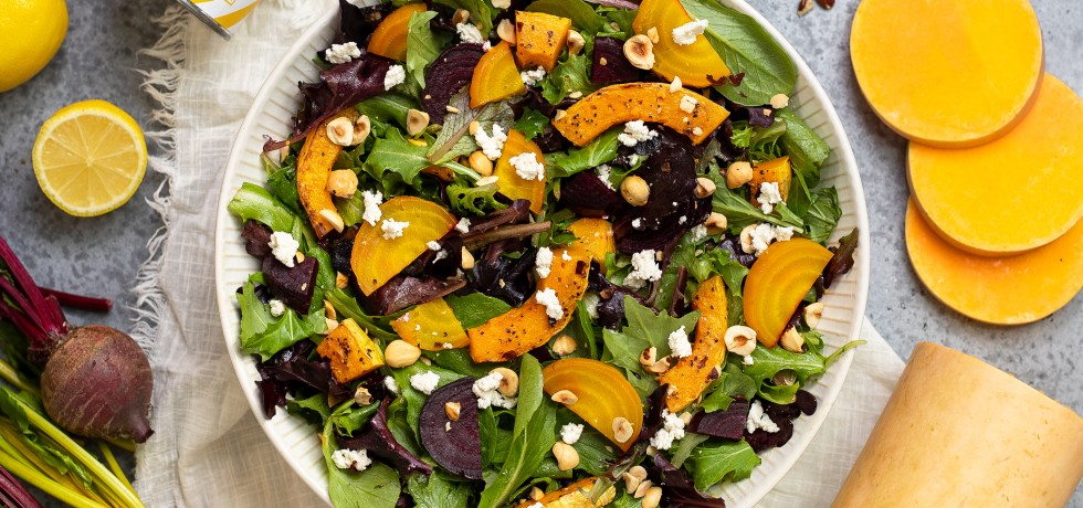 Medicated beet & butternut squash salad