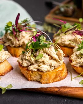 Tarragon-Infused Chicken Salad Crostini for ONGROK