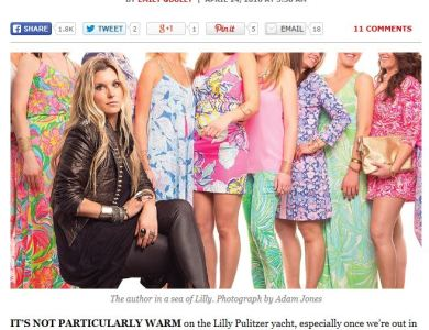 Excerpts from Interview with Emily Goulet from Philly Mag, about Lilly Pulitzer!