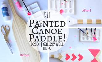 DIY Painted Canoe Paddle!
