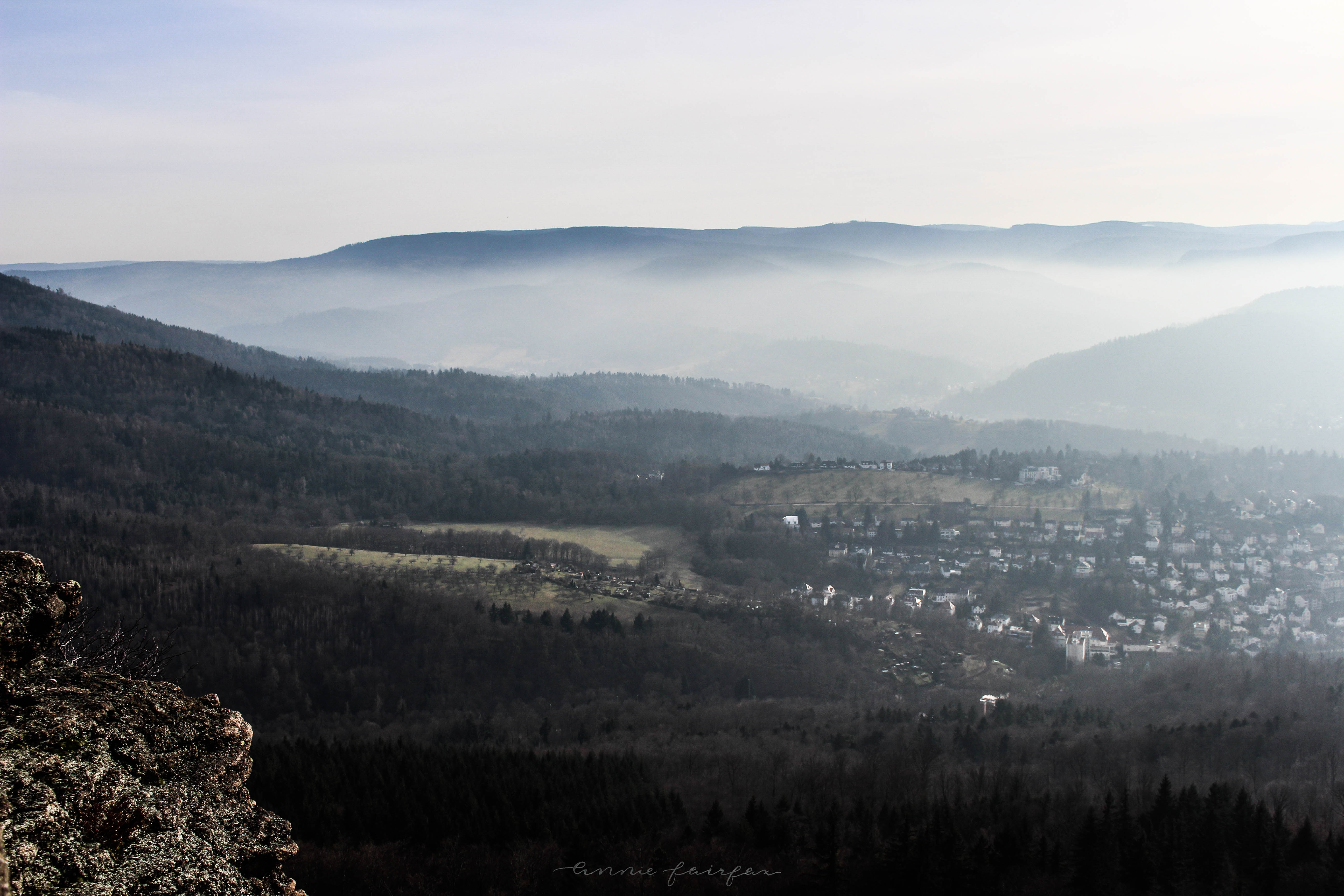 On Top of a Mountain in Black Forest, Germany Schwarzwald