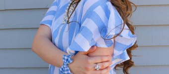 A Nautical Striped Ruffle Tee for Spring!
