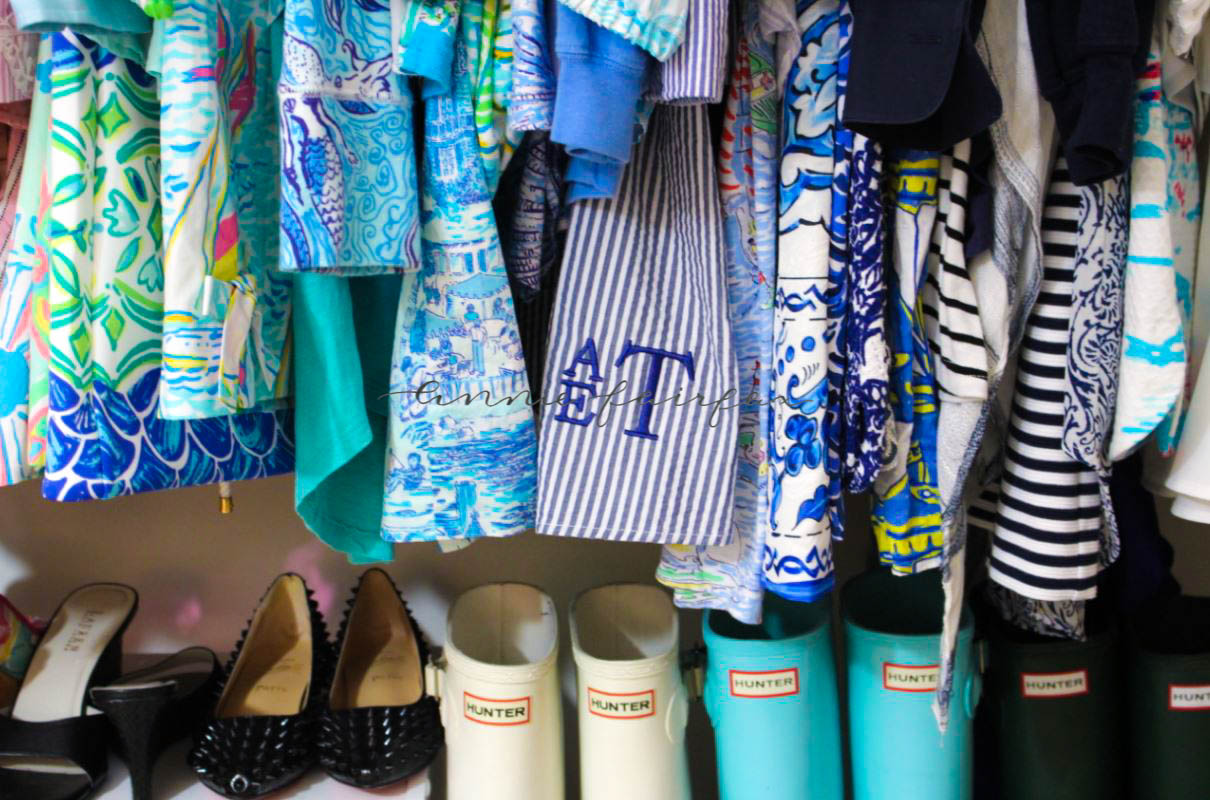 Spring Closet Lilly Pulitzer Hunter Boots Organization In My Closet Preppy Rainbow Kate Spade Kendra Scott