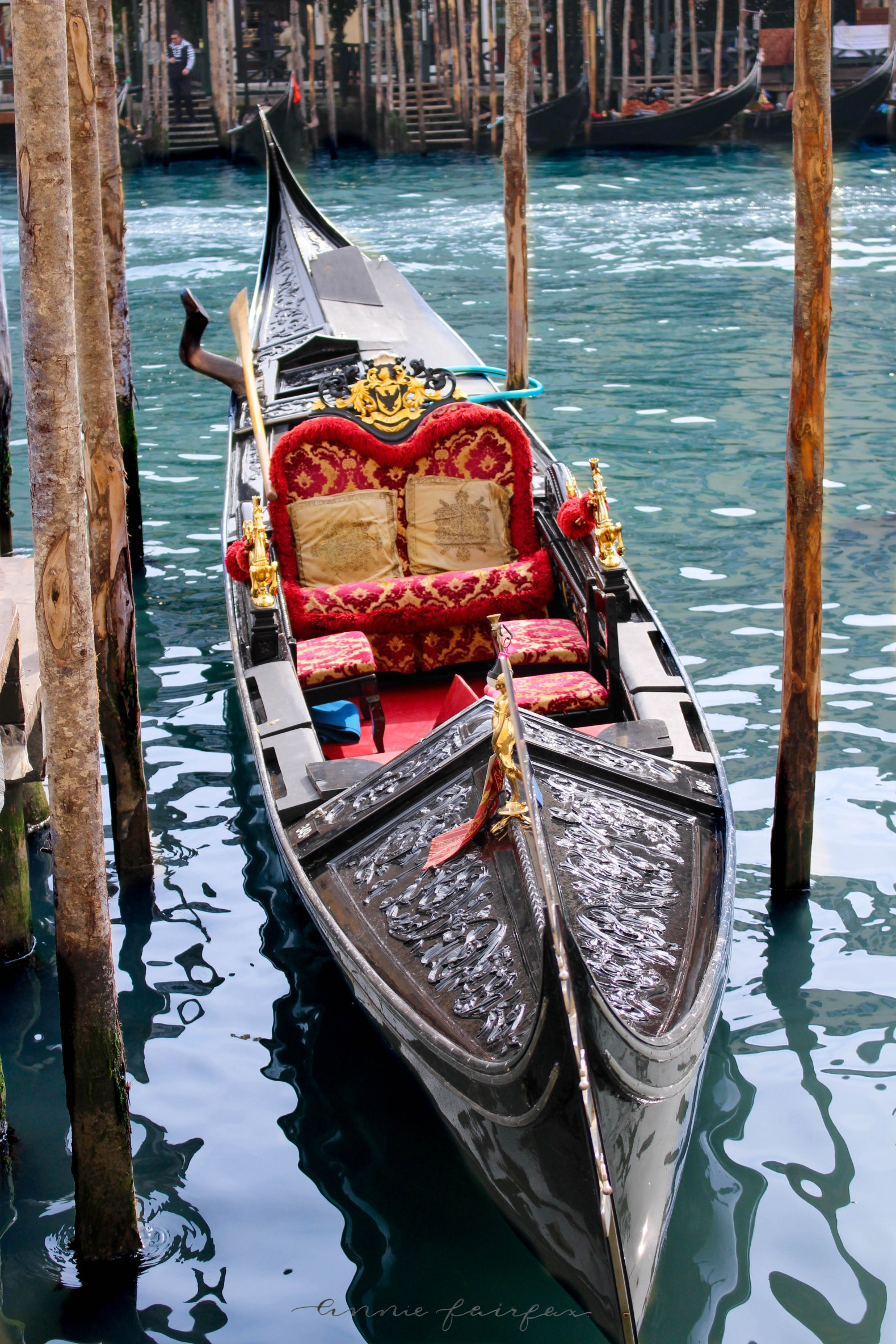 Gondola in Canal Best Things to See and Do in Venice Italy by Annie Fairfax