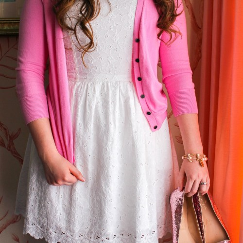 Pink & White Lilly Pulitzer Lace Dress