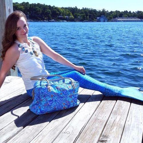 Mermaid Tail Annie Fairfax Fantasy Cosplay Costume Lilly Pulitzer