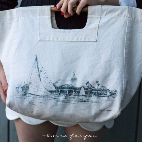Sailboats White Scallop Skirt