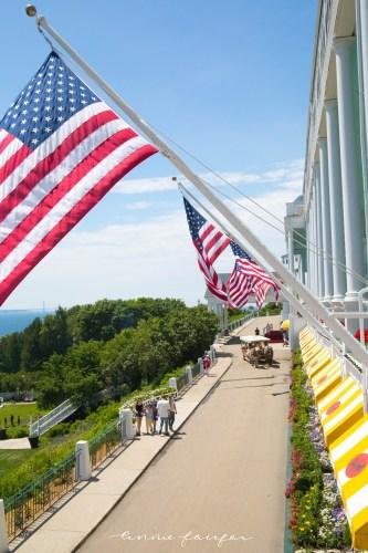 Word S Longest Porch Grand Hotel Mackinac Island Michigan Inside Look Tour Annie Fairfax