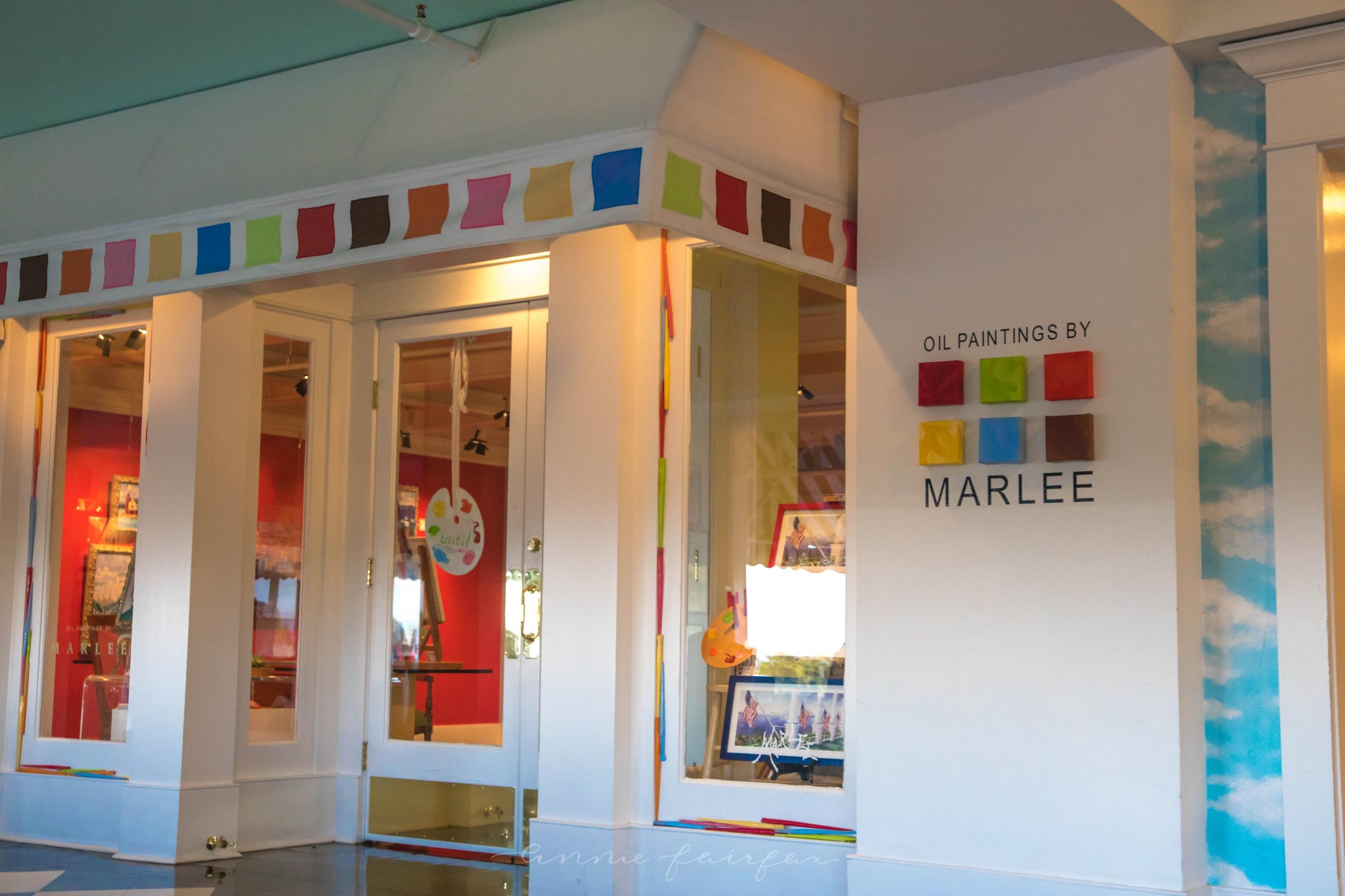 Oil Paintings by Marlee Brown Shops inside Grand Hotel Mackinac island