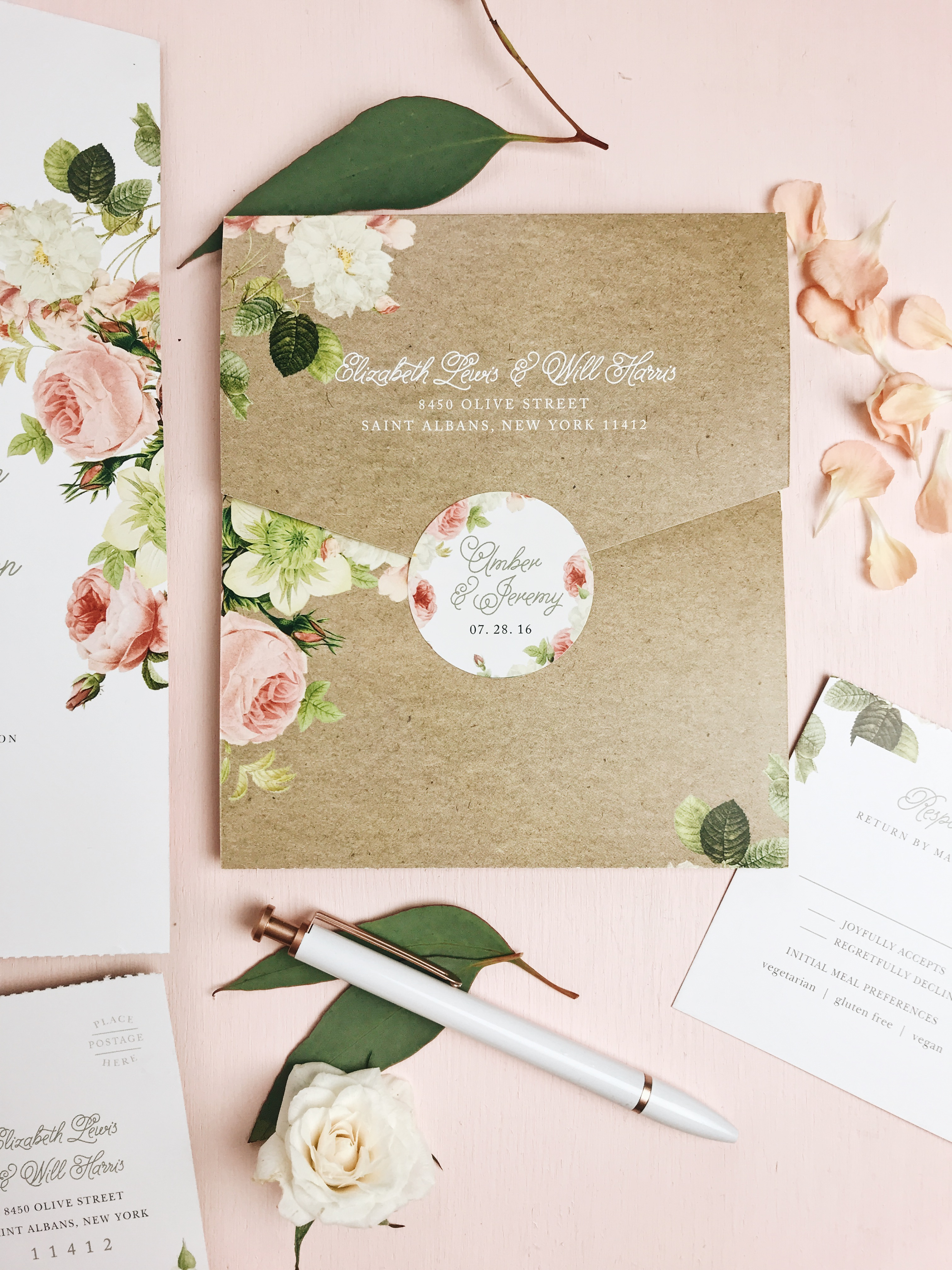 Basic Invite Modern Wedding Stationery Examples Free Samples Instant Previews Fully Customizable