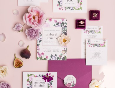 Our 4 Year Anniversary and Modern Stationery Ideas