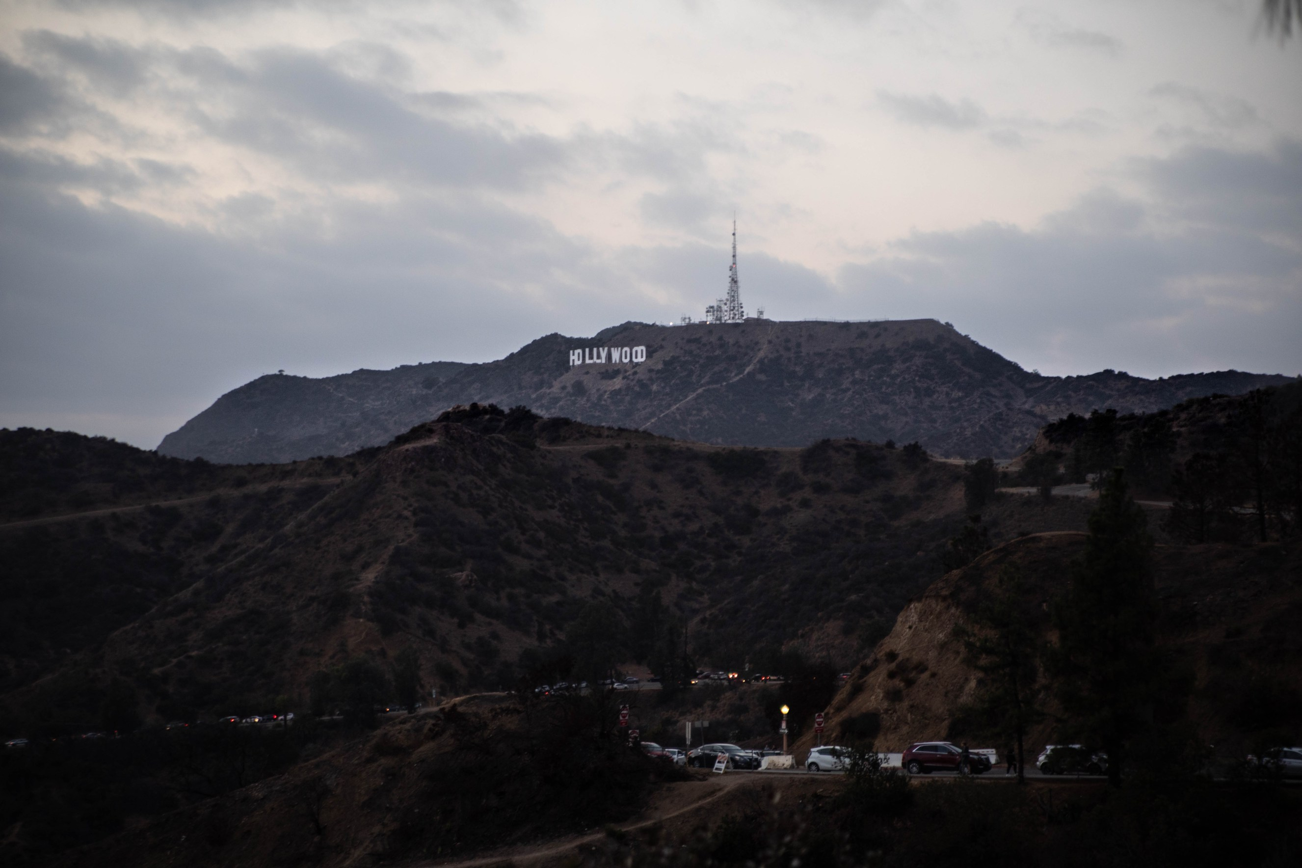 The Hollywood Sign from Griffith Observatory and Museum in Los Angeles