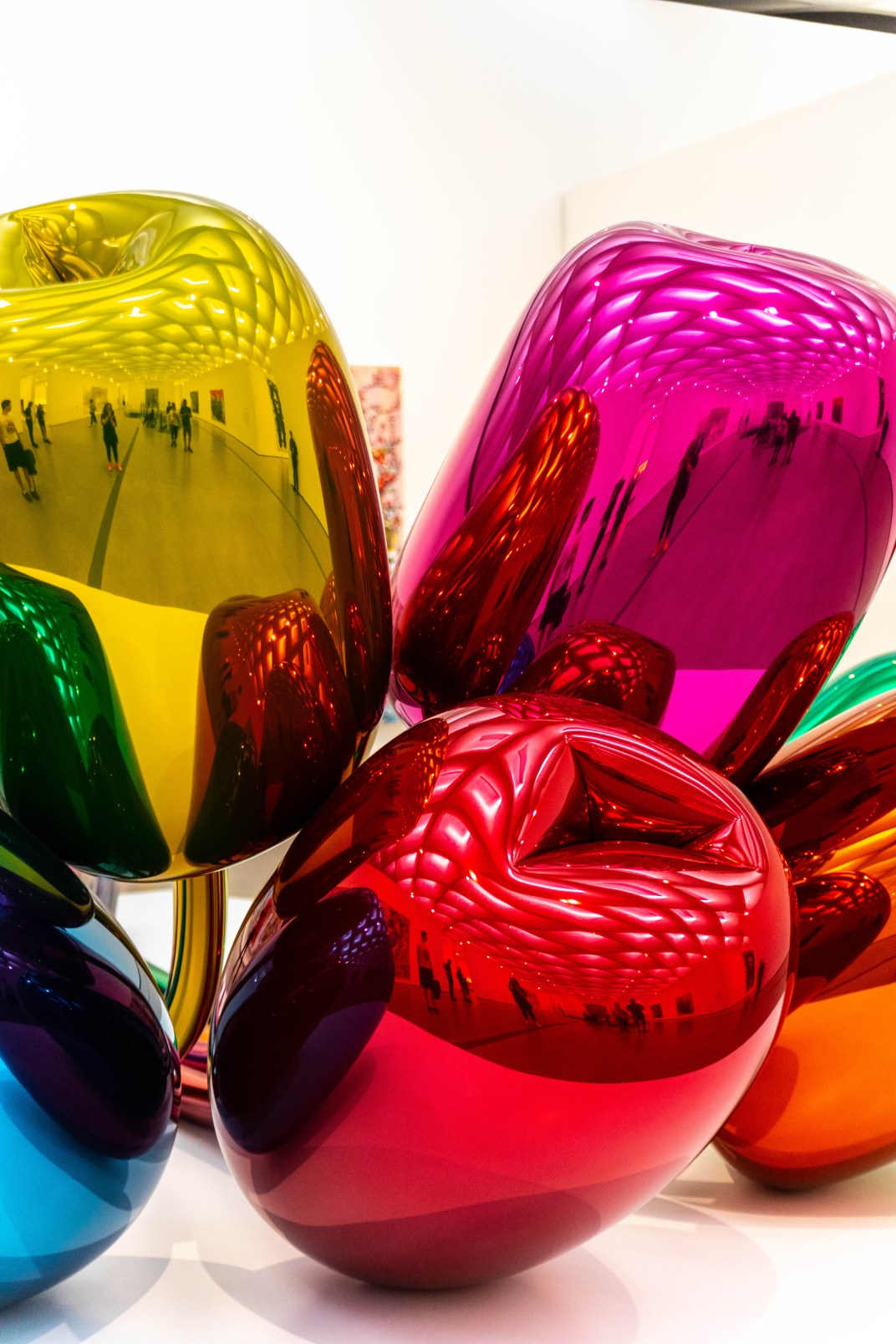 Tulips Metal Sculptures by Jeff Koons at The Broad Museum in Los Angeles