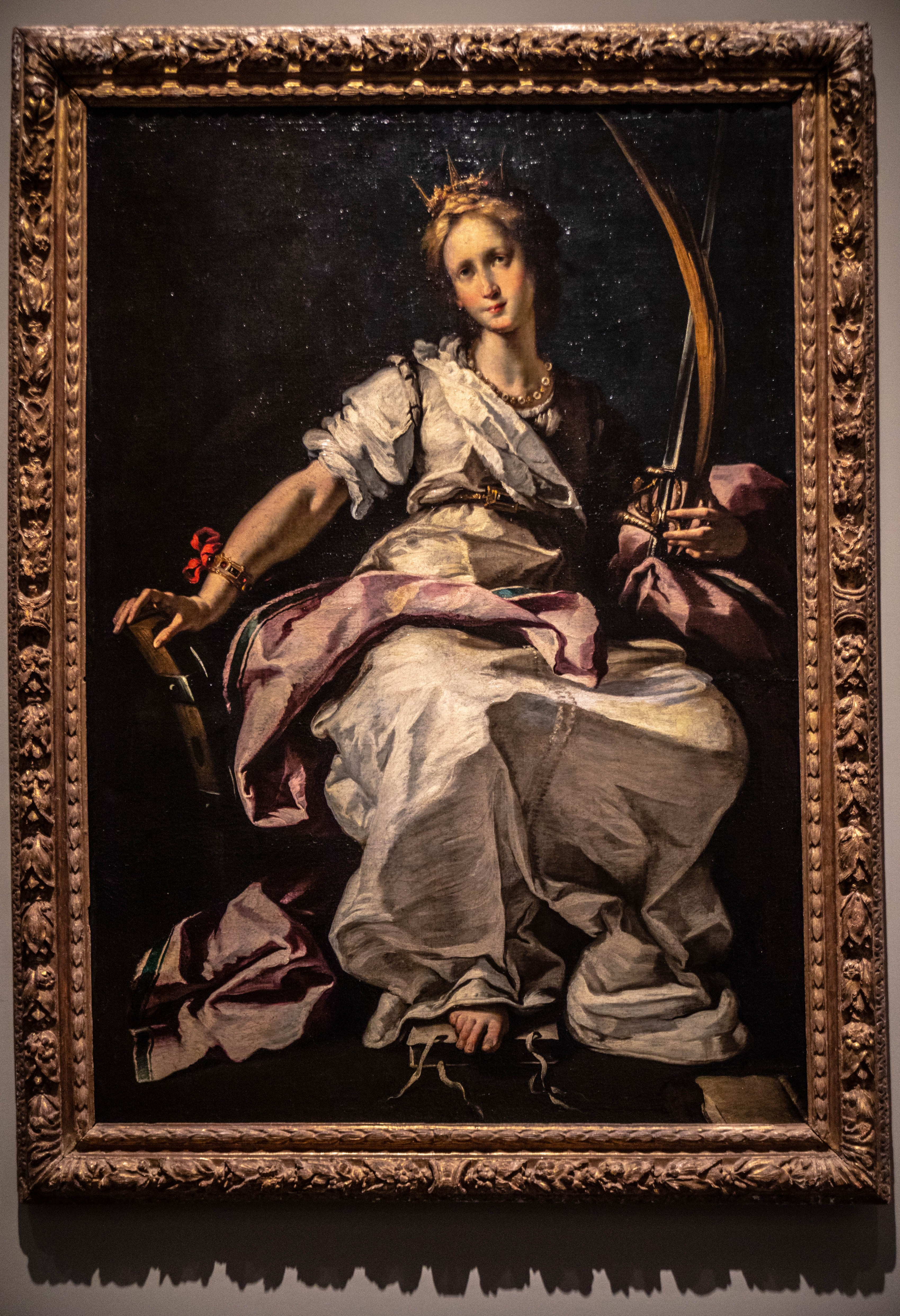 Painting of a Woman at LACMA Los Angeles County Museum of Art