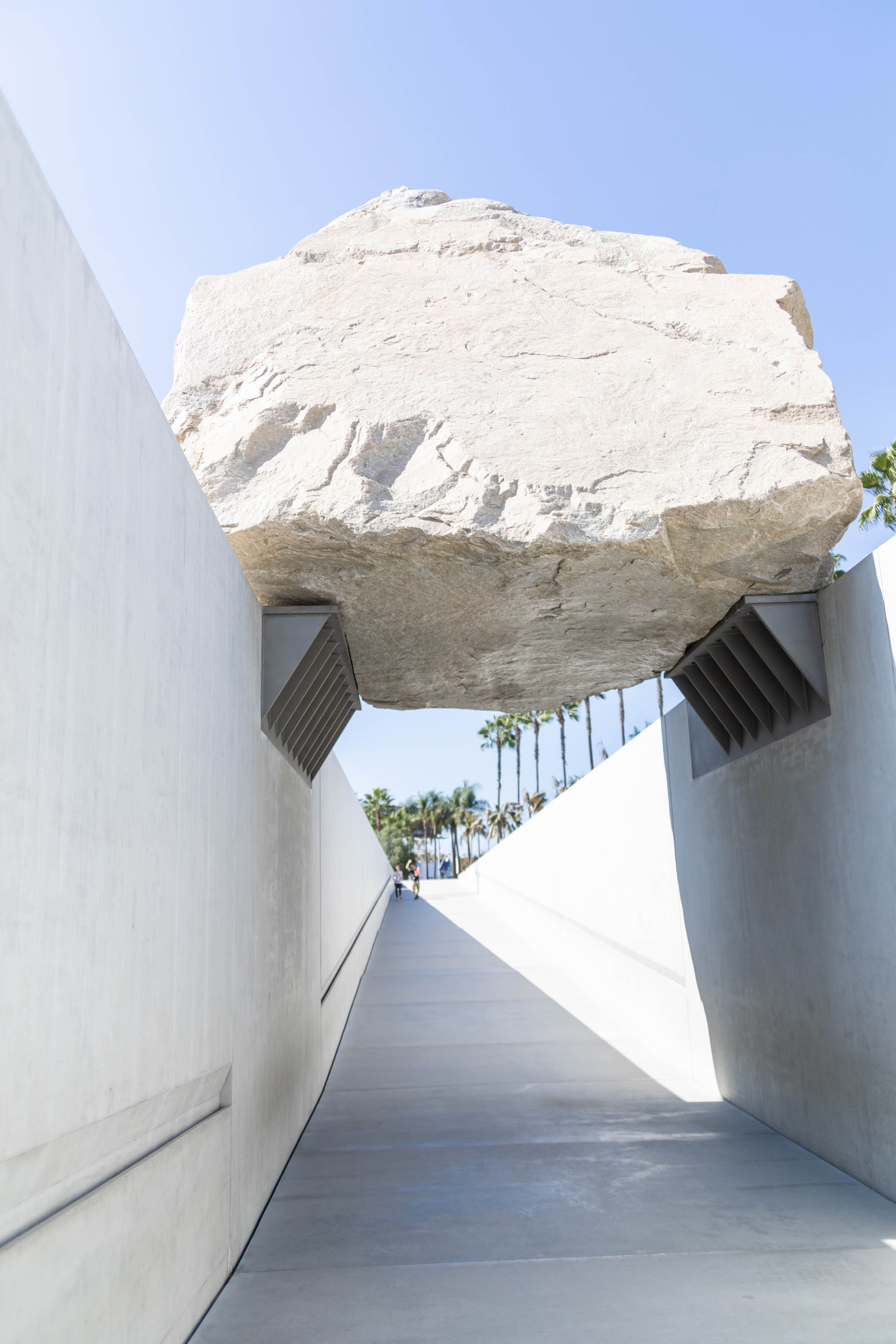 Levitated Mass by Michael Heizer Floating Rock LACMA Los Angeles County Museum of Art