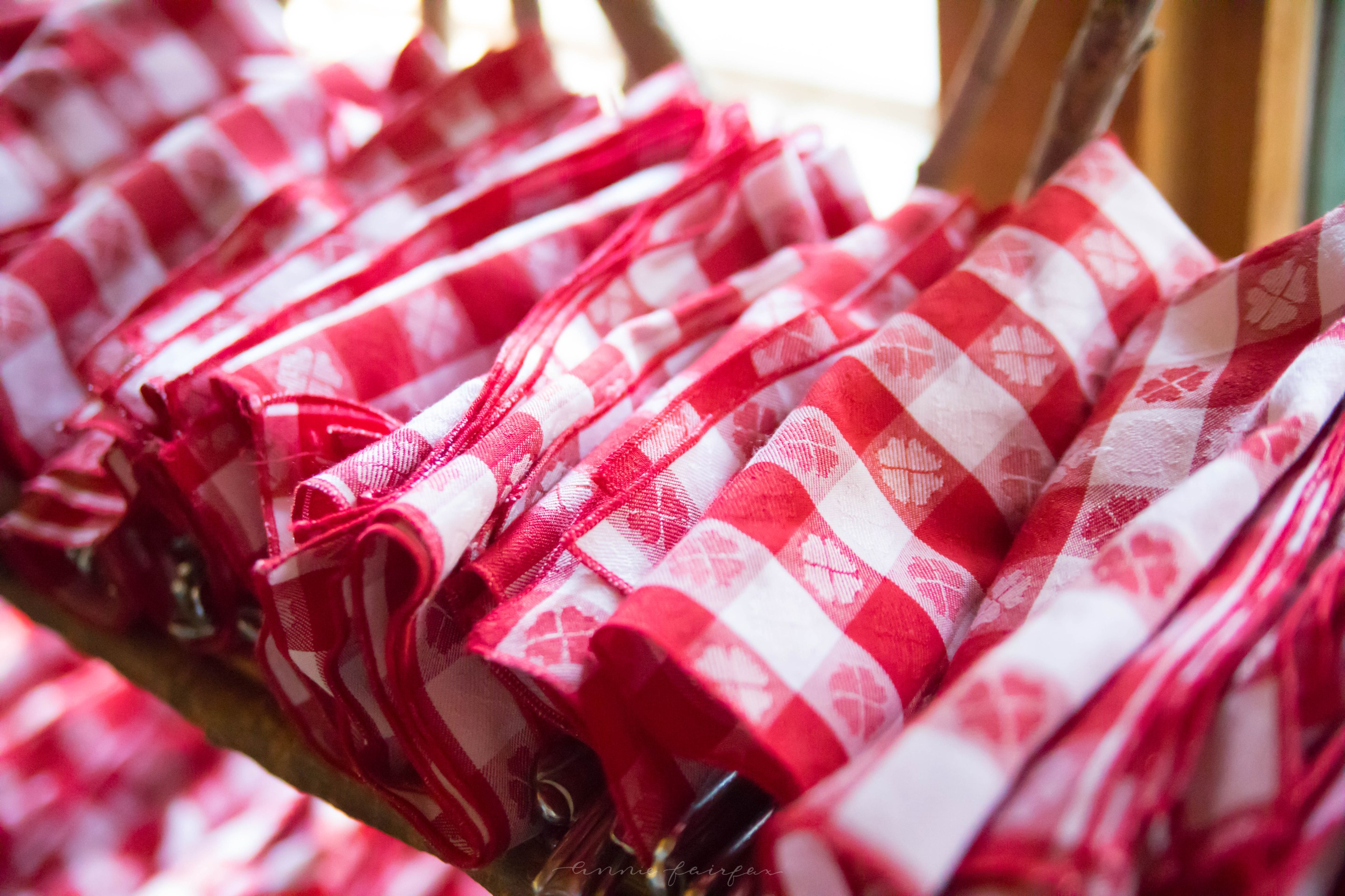 Photo of Woods Restaurant on Mackinac Island, Michigan Grand Hotel by Annie Fairfax Red Gingham Napkins