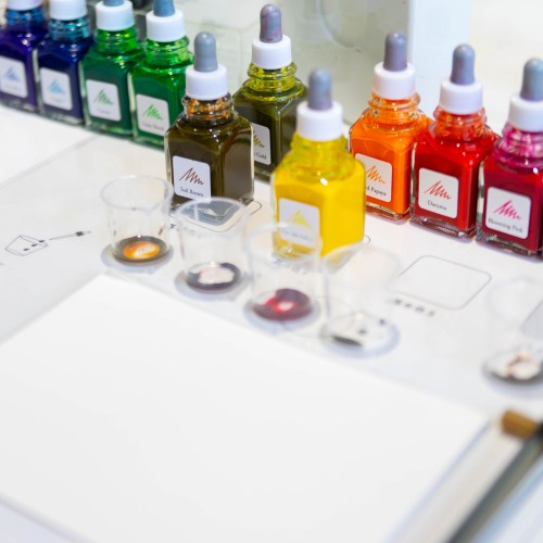 Custom Blended Inks at Ink Stand in Tokyo, Japan