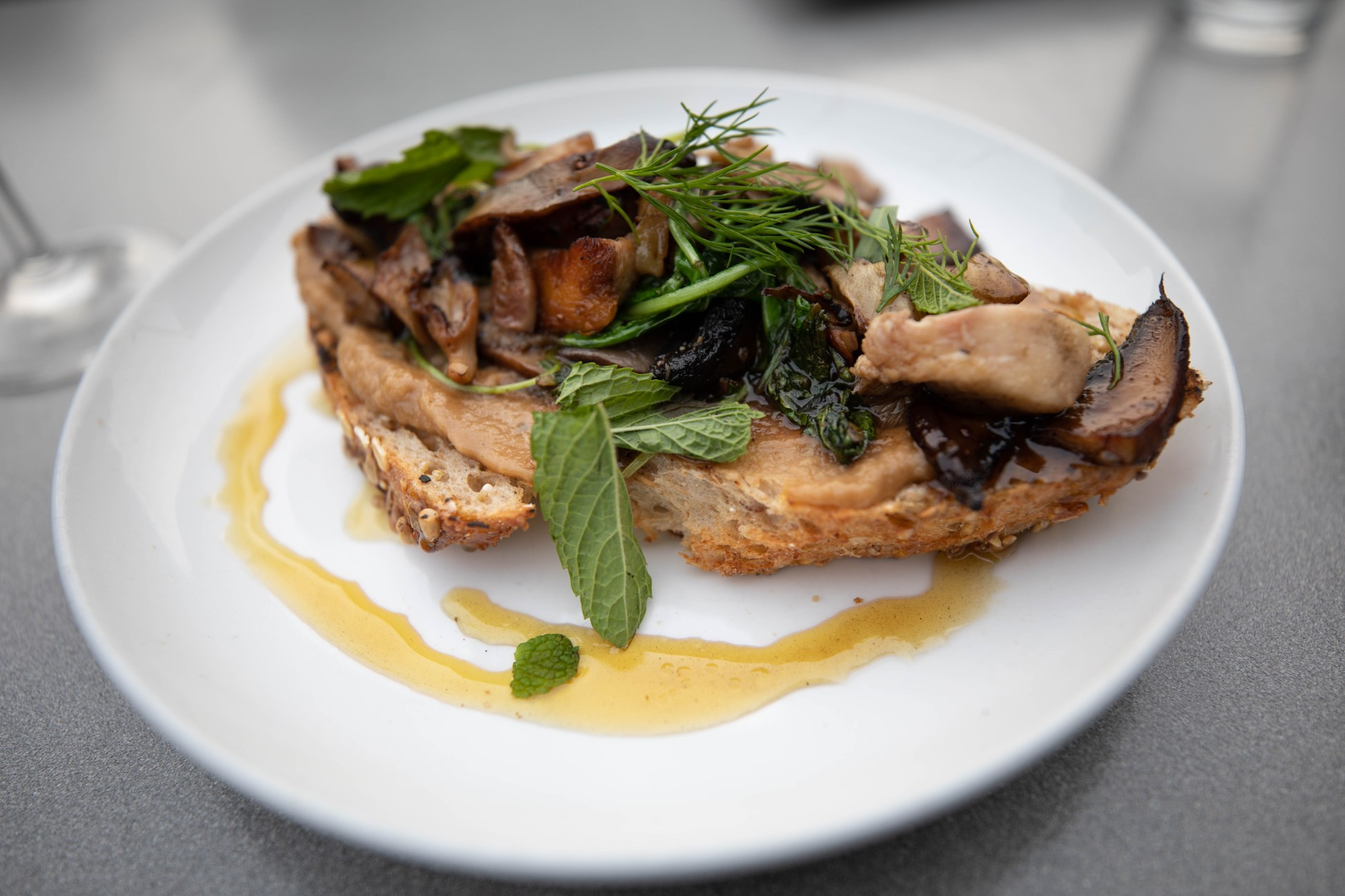 Gluten Free Mushroom Bruschetta Tinker Street in Indianapolis Luxury Restaurants of the World by Annie Fairfax