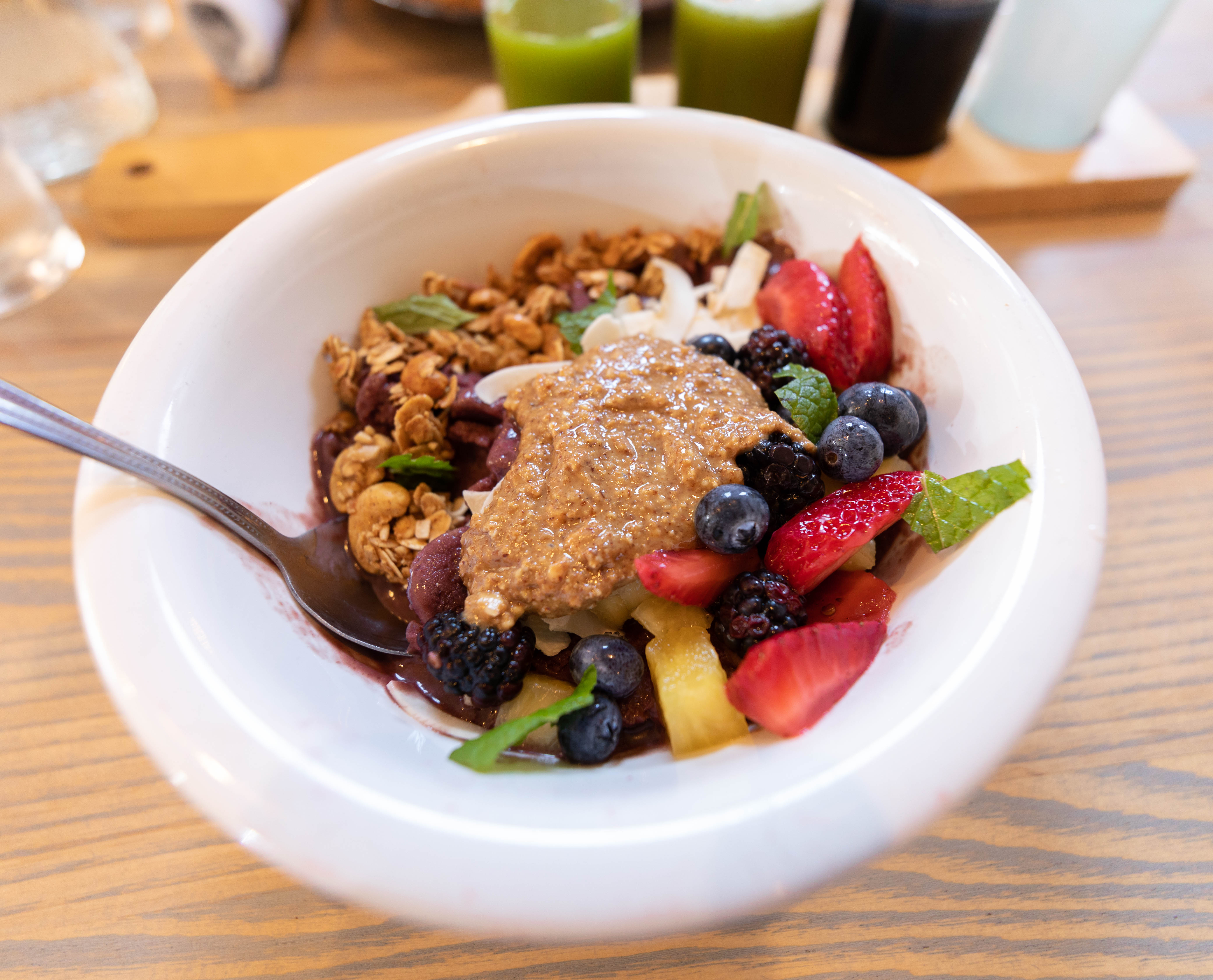 Açai Bowl Garden Table Farm-Table Transparent Plant Based Dining in Indianapolis Luxury Restaurants of the World