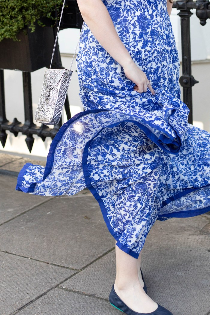 Blue & White Free People Dress in London