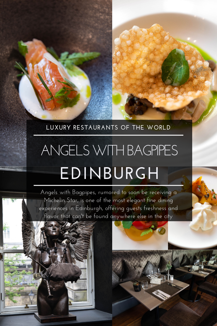 Luxury Restaurants of the World Angels with Bagpipes Edinburgh Scotland Fine Dining