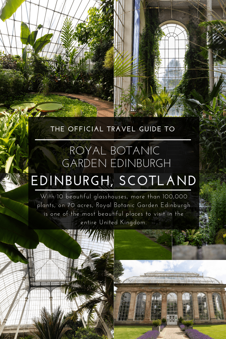 Royal Botanic Gardens Edinburgh in Edinburgh, Scotland United Kingdom
