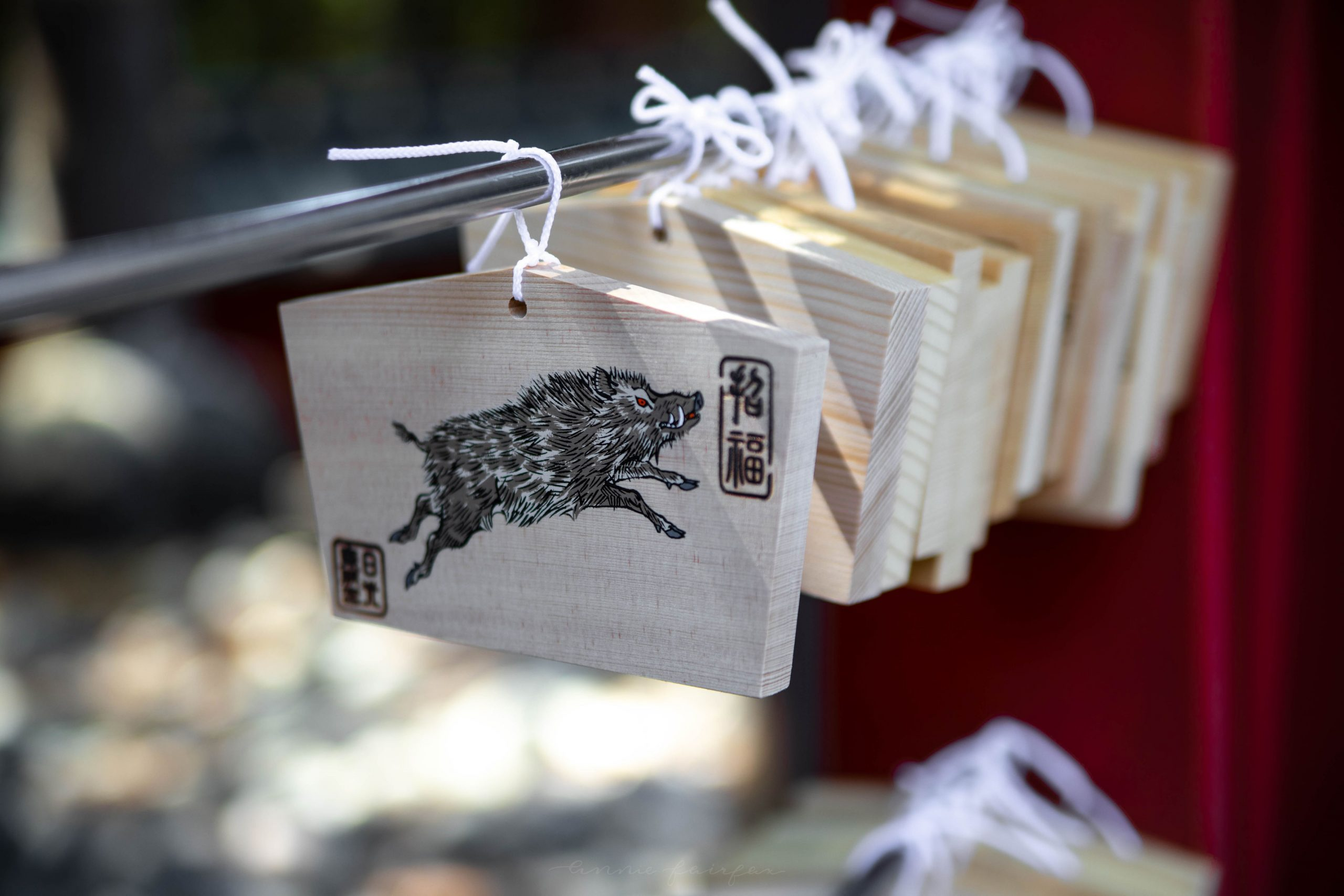 Wooden Ema Shinto Shrine Wish Prayer Tablets How to Use Them Shrine Etiquette by Annie Fairfax