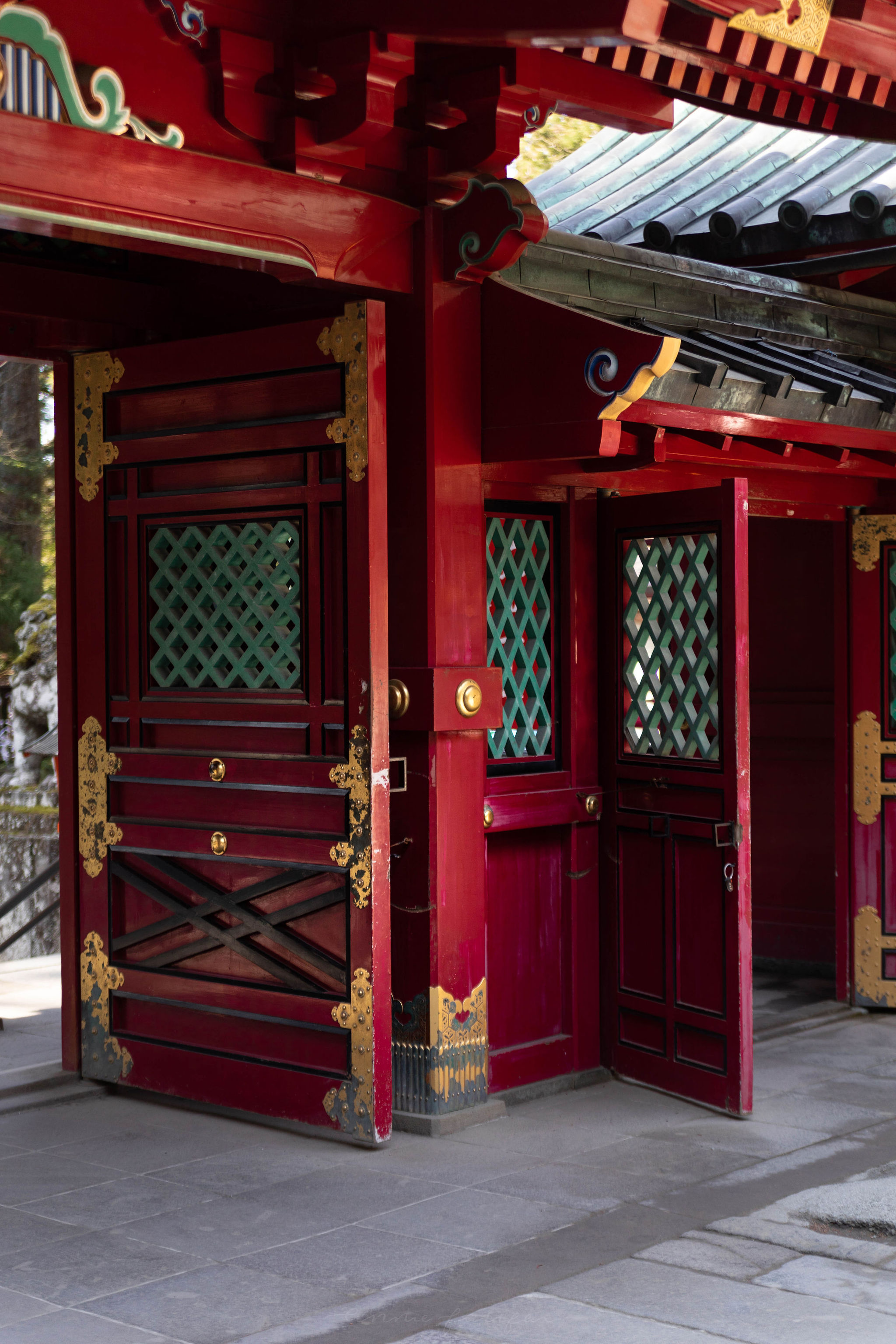 Red Gates at Hakone Shrine Japanese Shinto Temples in Japan