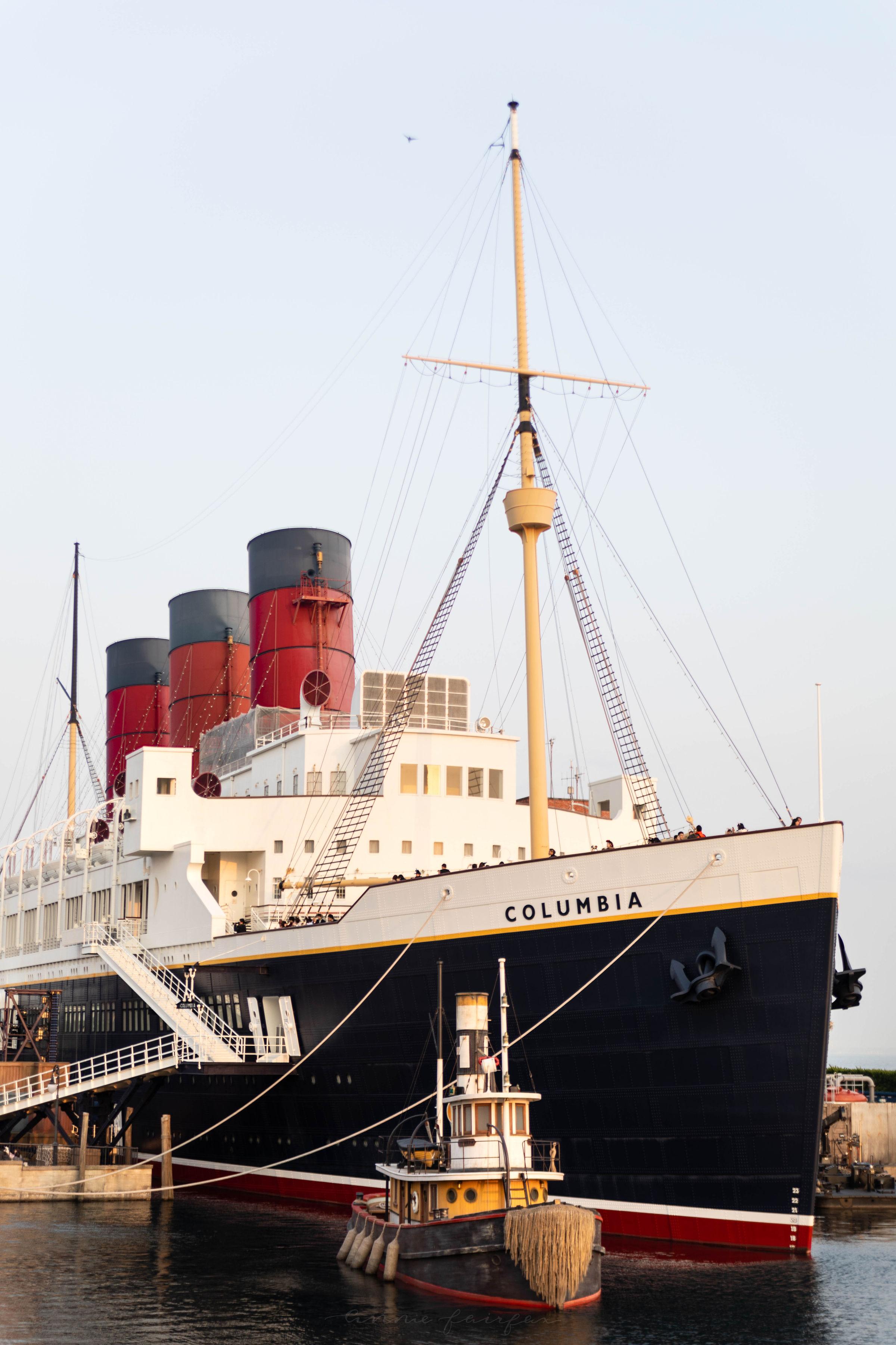 The Columbia Ship at American Harbor in American Waterfront at Tokyo DisneySea