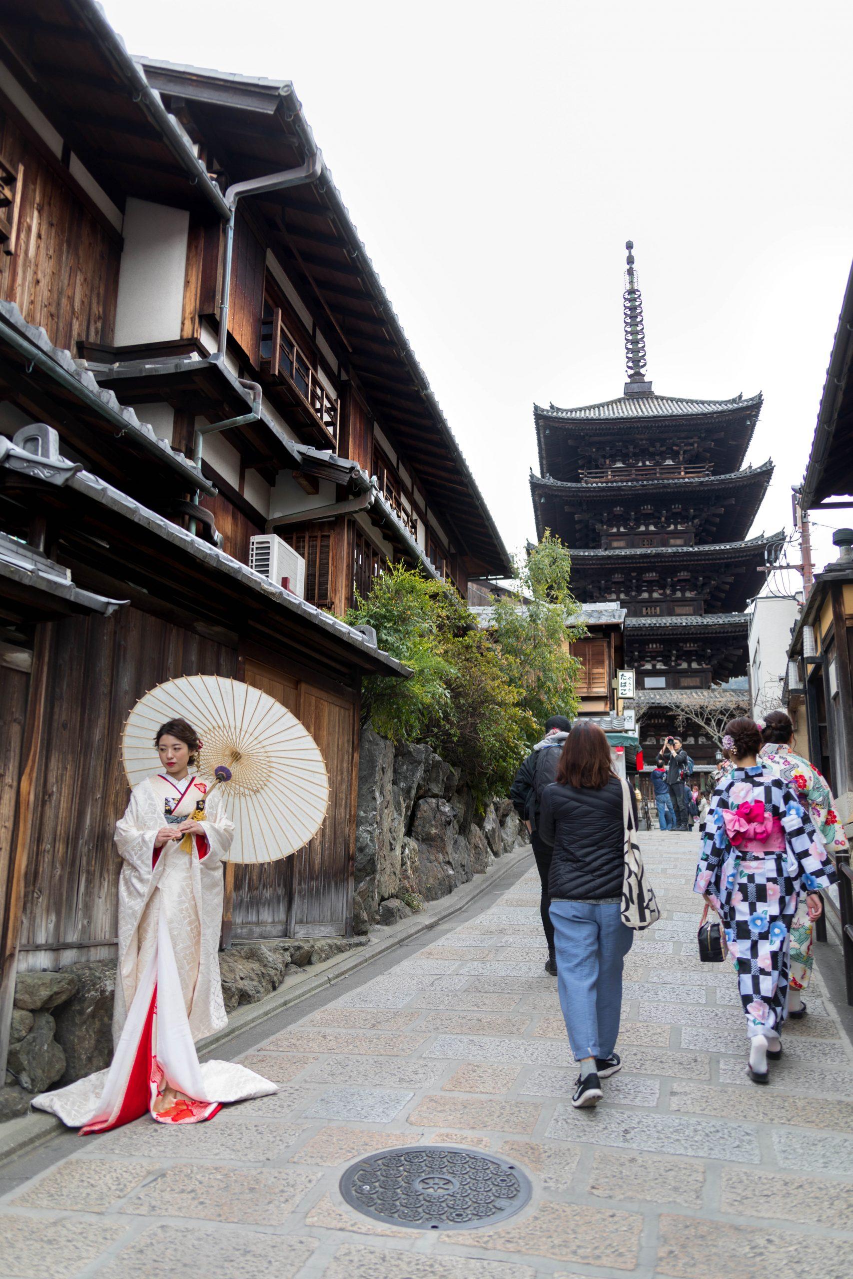 Yasaka Pagoda at Hōkan-ji Temple Yasaka no Tou in Kyoto Japan Photographed by Annie Fairfax