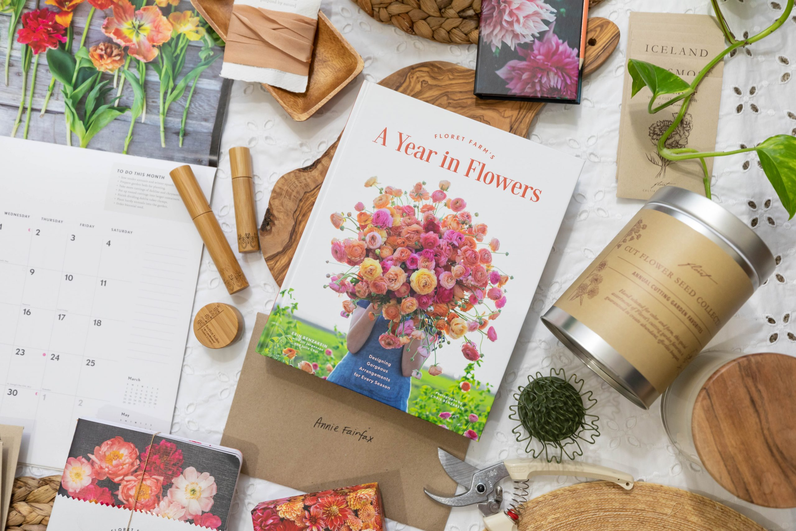 A Year in Flowers by Floret Farms' Erin Benzakein Floral Arranging Bouquet Making Ikebana