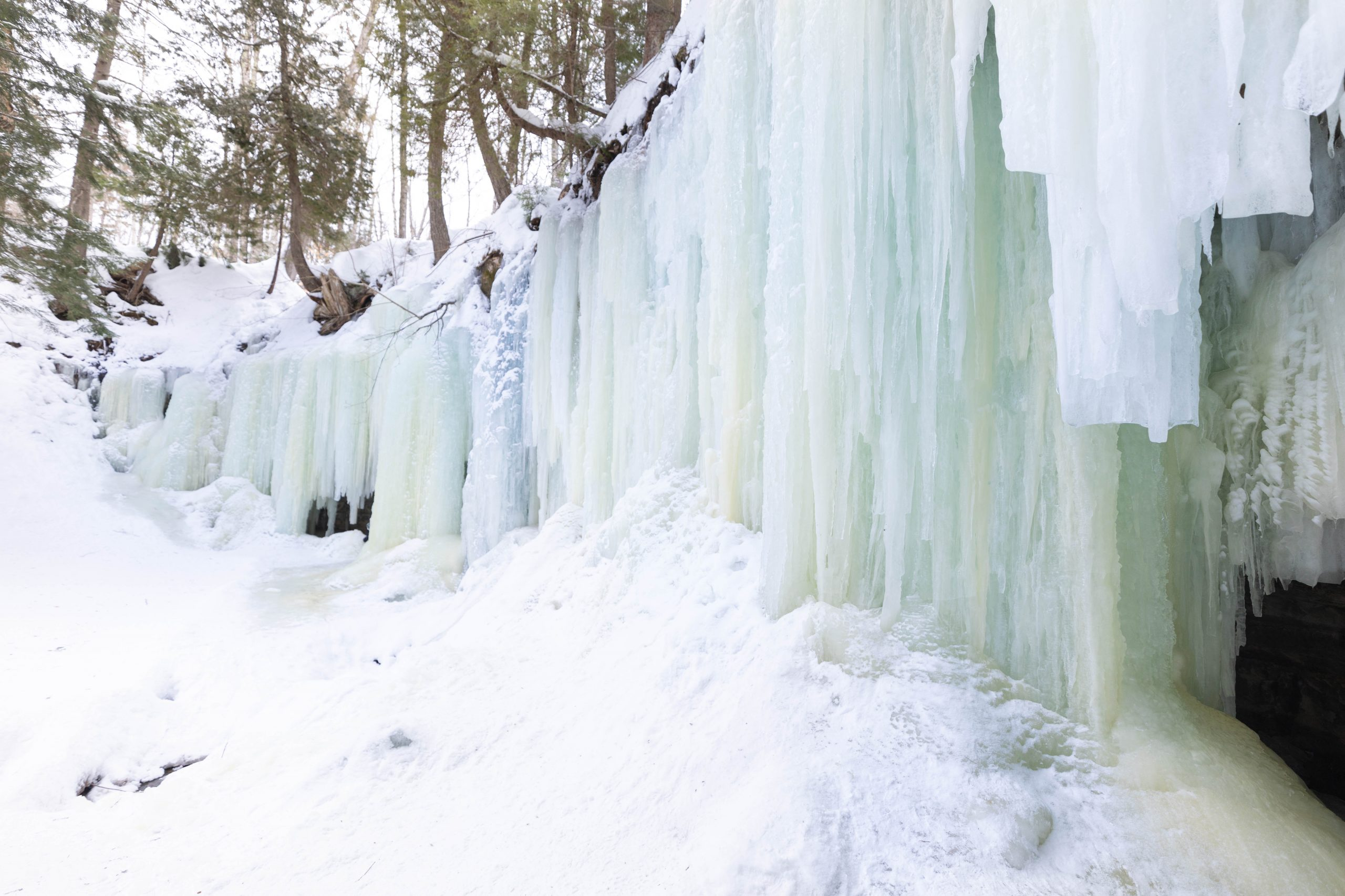 Eben Ice Caves Near Lake Superior How to Reach Them, What to Wear, What to Bring, and How to Find Them by Annie Fairfax