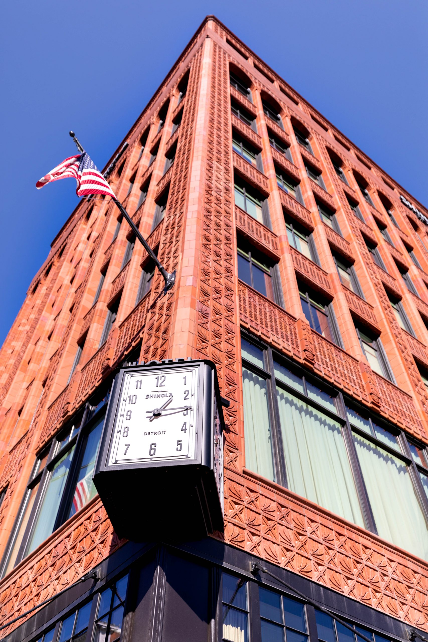 Shinola Clock Tower San Morello Authentic Italian Restaurant in Downtown Detroit Inside Shinola Hotel Written & Photographed by Annie Fairfax