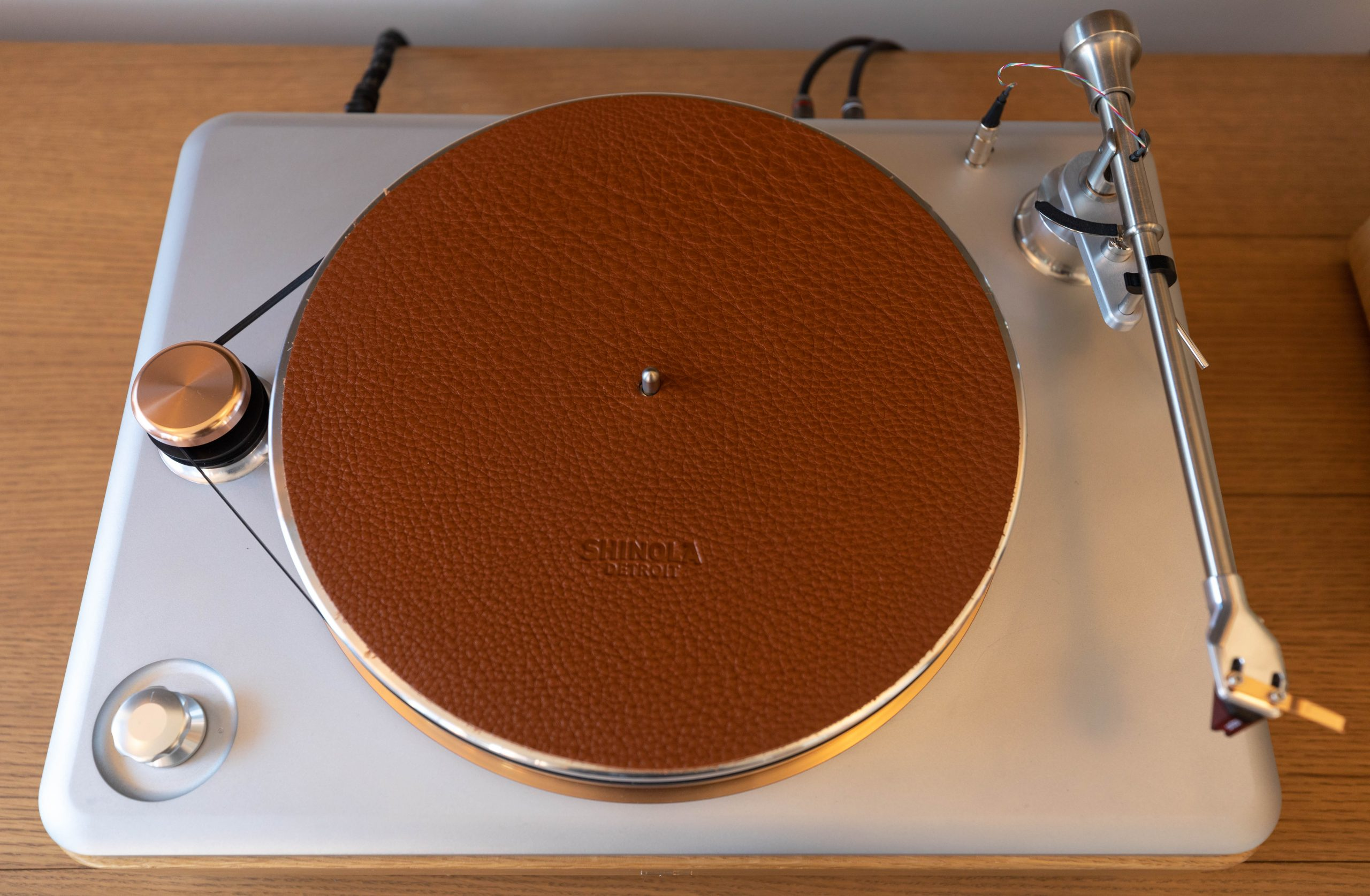 Shinola Hotel Record Player in the Penthouse Suite