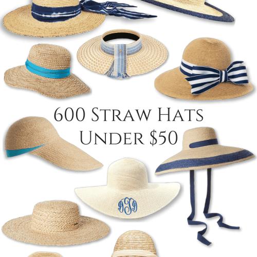 600 Straw Sun Hats Under $50